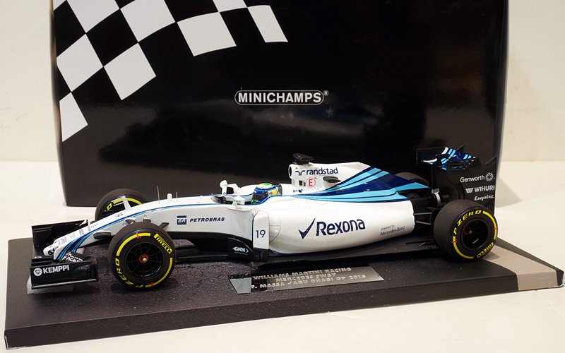 Minichamps 1/18 Williams Martini FW37 F.Massa Abu Dhabi 2015