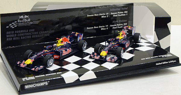 Minichamps 1/43 Red Bull RB6 2010 Constructors Champion Set