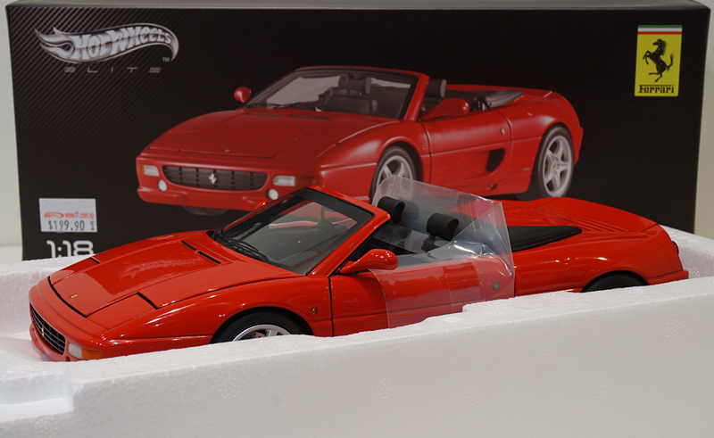 Hotwheels 1/18 Ferrari F355 Spider Red