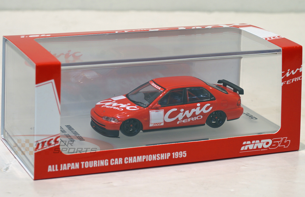 Inno 1/64 Honda Civic Ferio EG9 Test Car JTCC 1995