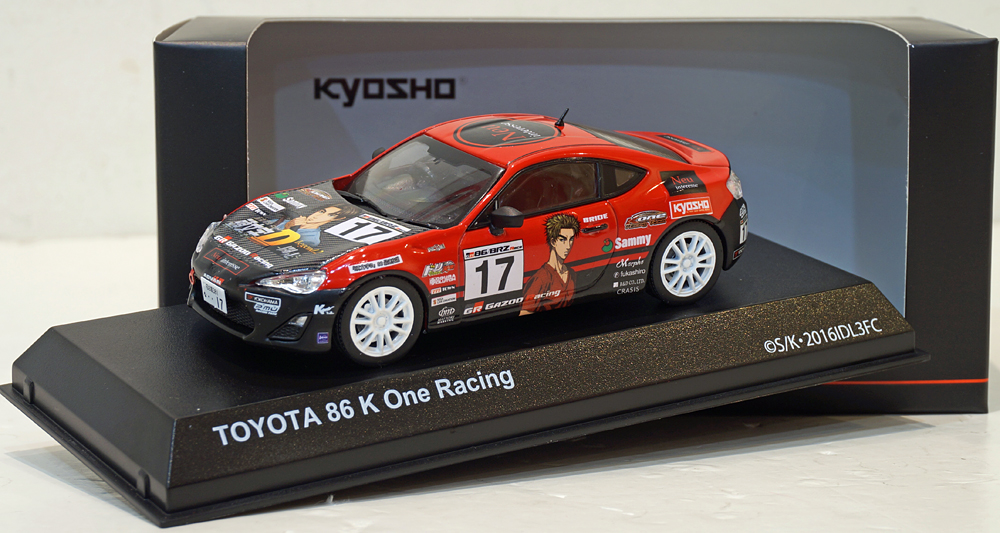 Kyosho 1/43 Toyota 86 #17 K One Racing