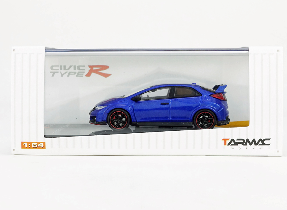 Tarmac 1/64 Honda Civic Type R FK2 Brilliant Sporty Blue Met.