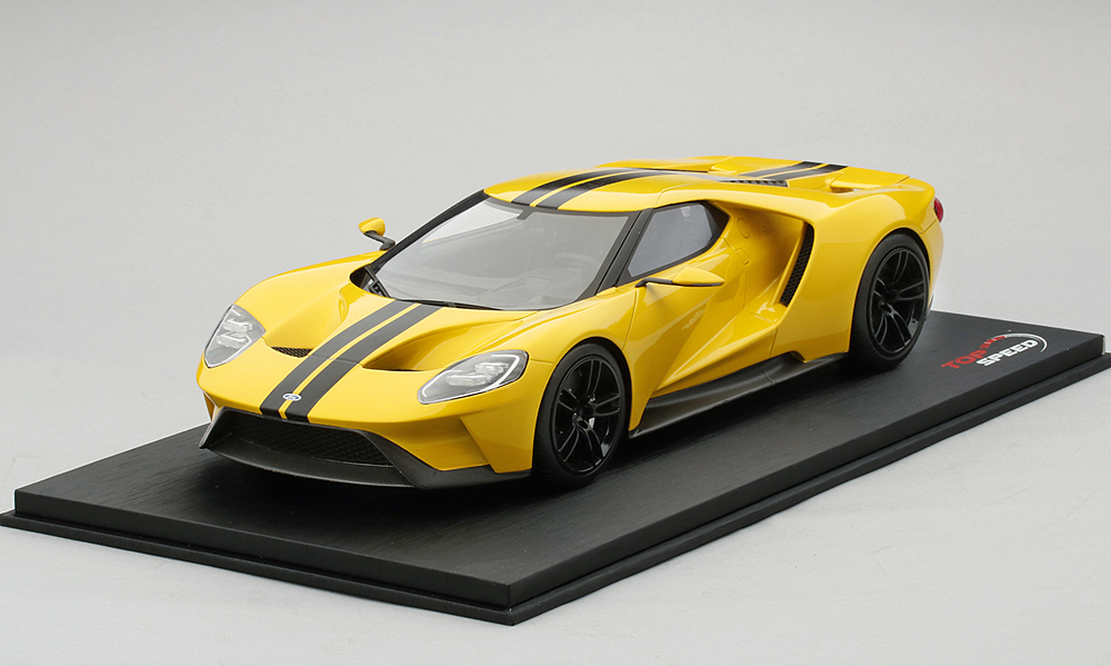 TopSpeed 1/18 Ford GT 2015 Triple Yellow