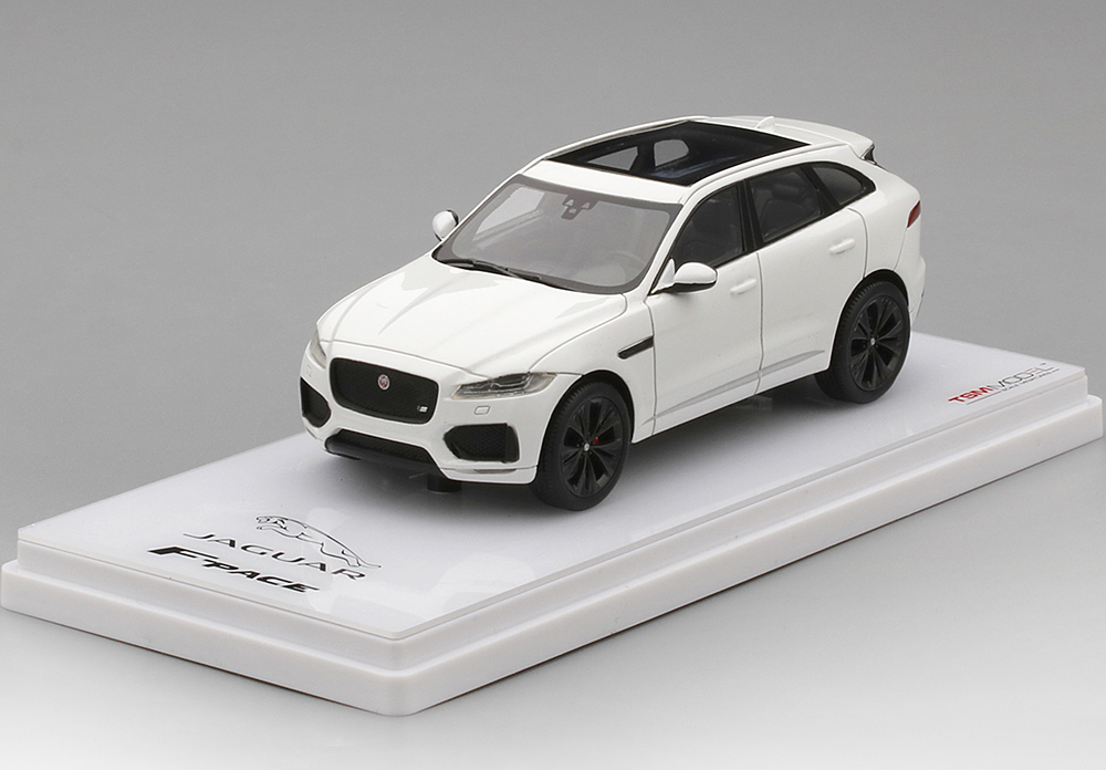 TSM 1/43 Jaguar F-PACE Polaris White