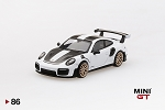 Mini GT 1/64 Porsche 911 GT2 RS Weissach Package White