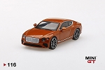 Mini GT 1/64 Bentley Continental GT Orange Flame