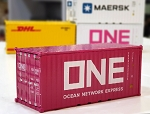 1/64 ONE 20' Pink Sea Freight Container Model